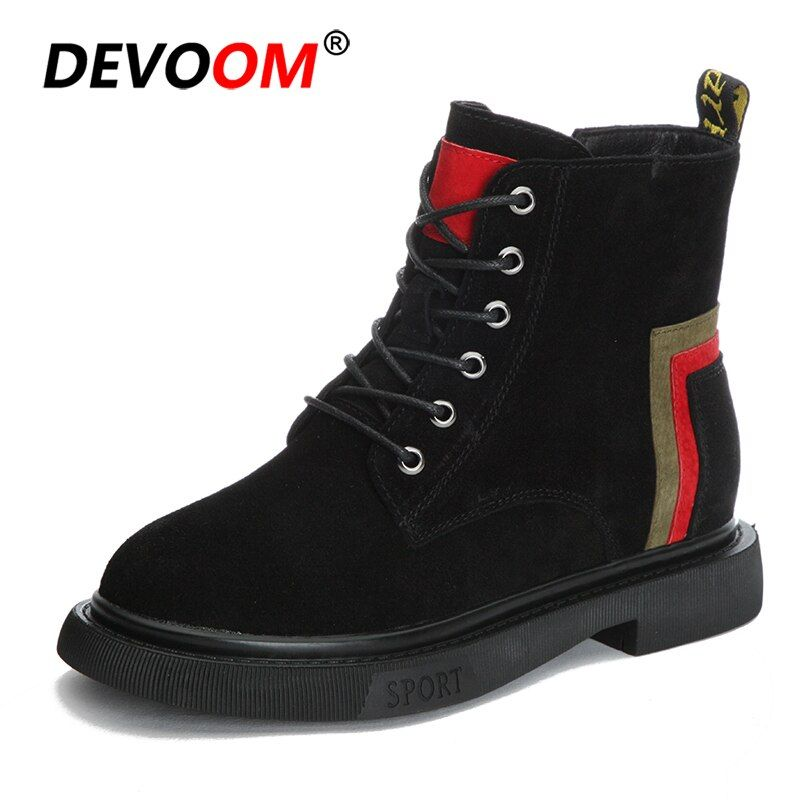 57710f6e9 New 2018 Fashion Zip Winter Women Boots Fur Ladies Boots Suede Wedge Heel Woman  Boots Genuine