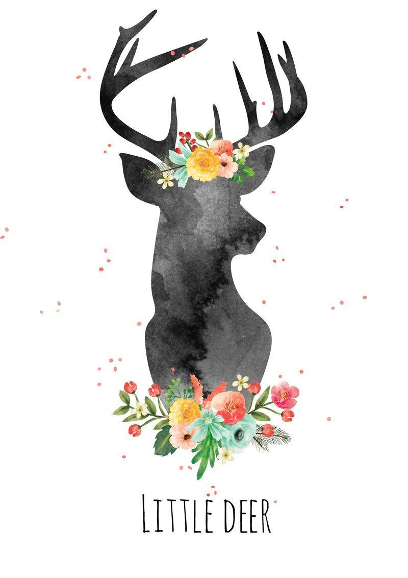 Home Styling by Little Deer! Deer illustration, Deer