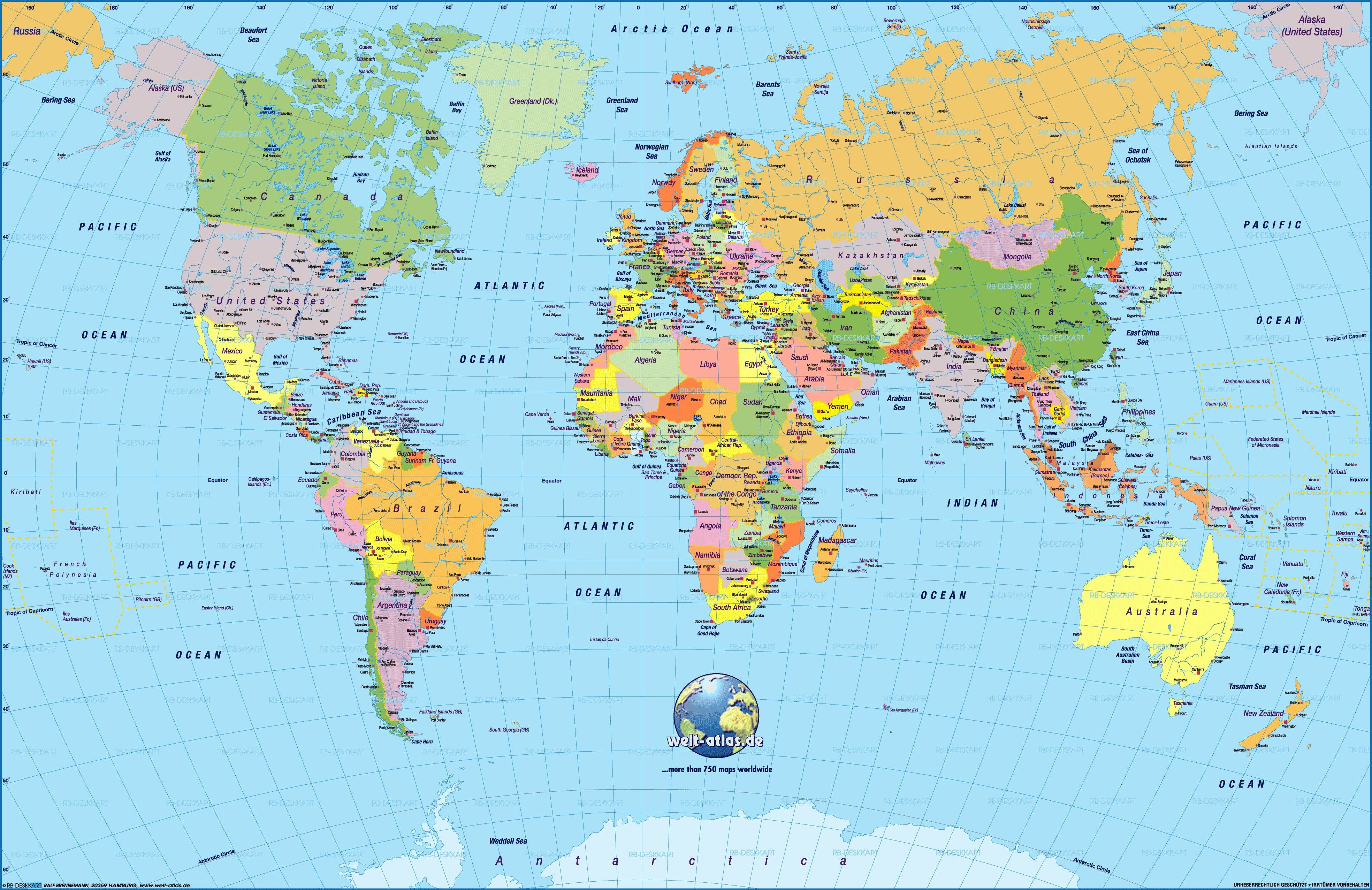 World Map Political Country And Capitals Free Download New