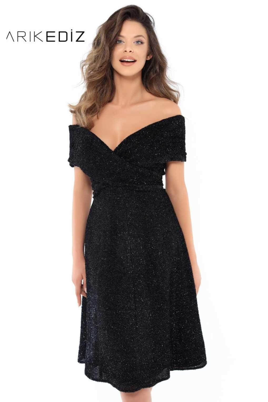 0ced8a5ae6f Маленькое черное платье Tarik Ediz 93750 с открытыми плечами