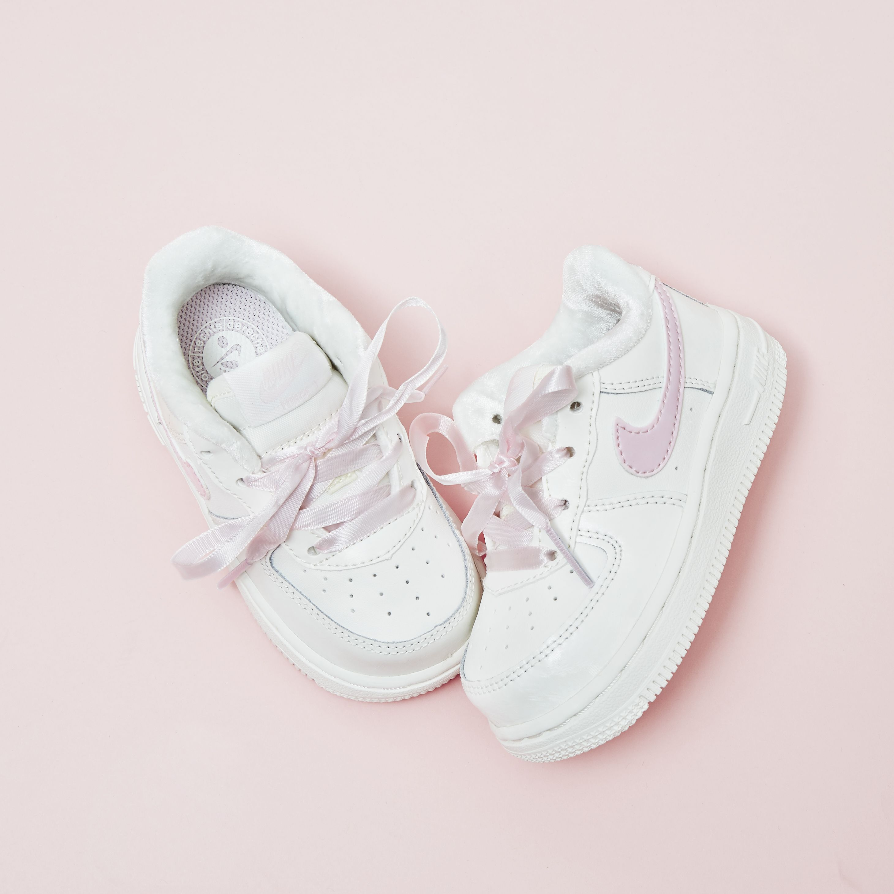 Nike Air Force 1 Infant White Artic Pink Unisex Cute Baby Shoes Baby Girl Outfits Newborn Baby Girl Converse