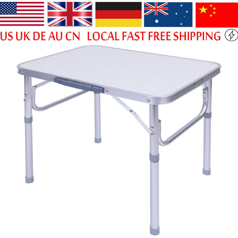 1x Aleaci N De Aluminio Mesa De Picnic Plegable Ajustable Port Til