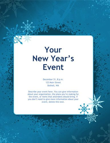Blue-snowflakes-Christmas-flyer-free-template | Parties ...