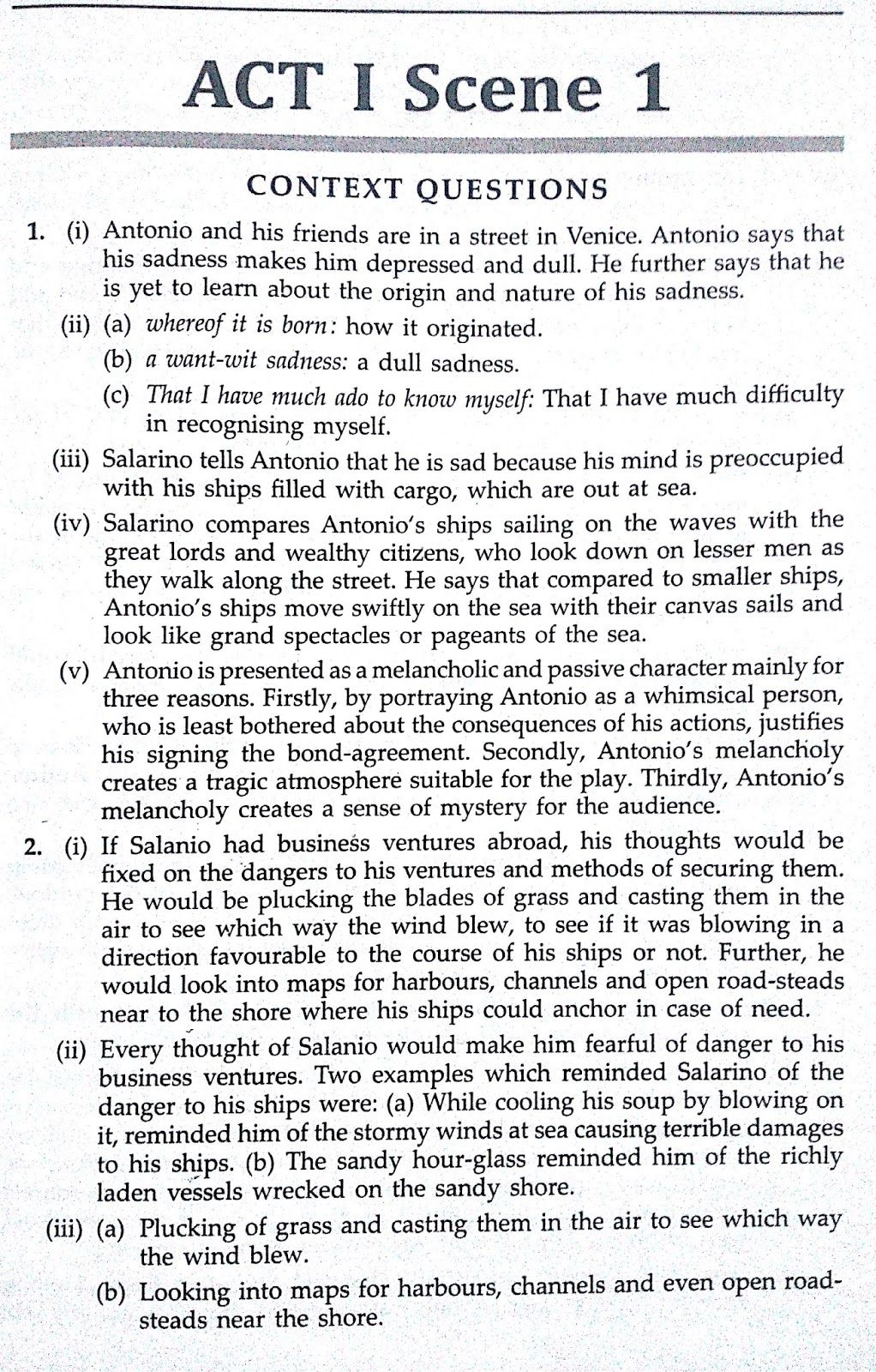 Solved Textbook Workbook Answer Solution Of The Merchant Venice Act 1 Scene Love Quote For Him 3 4 Analysis