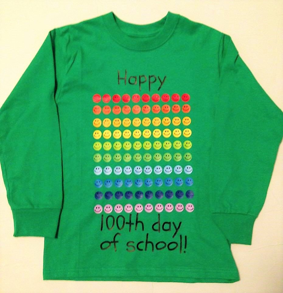 Teacher 100th Day Of School Shirt Smiley Faces 100 Days T Shirt