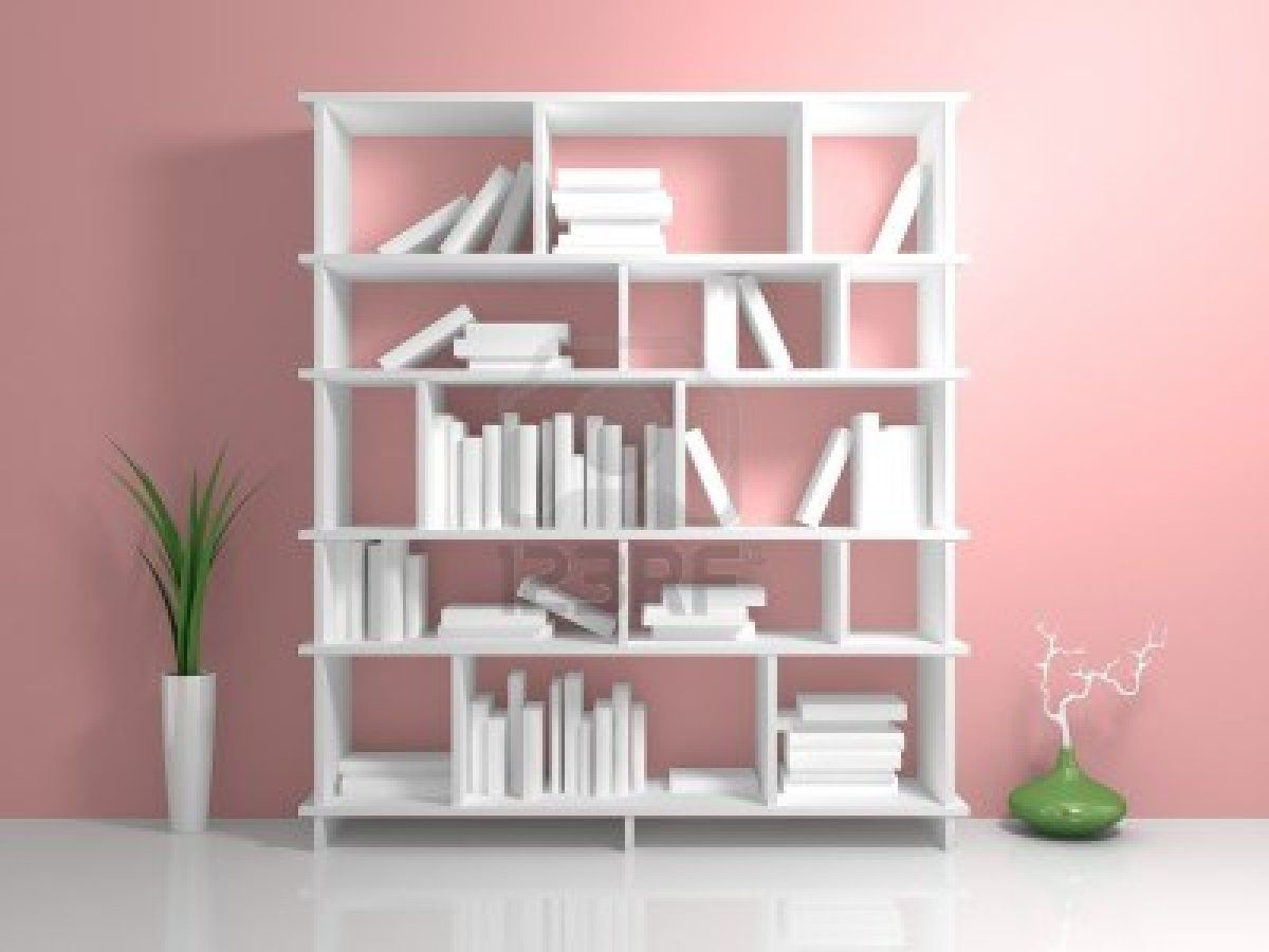 white bookshelf with a white books against pink wall shelves rh pinterest com