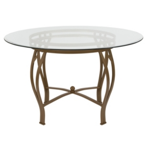 gold glass dining table metallic gold syracuse 48 round glass dining table with matte gold metal frame