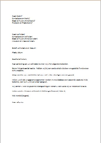 Voorbeeld afwijzing sollicitatie | Nederlands | Pinterest