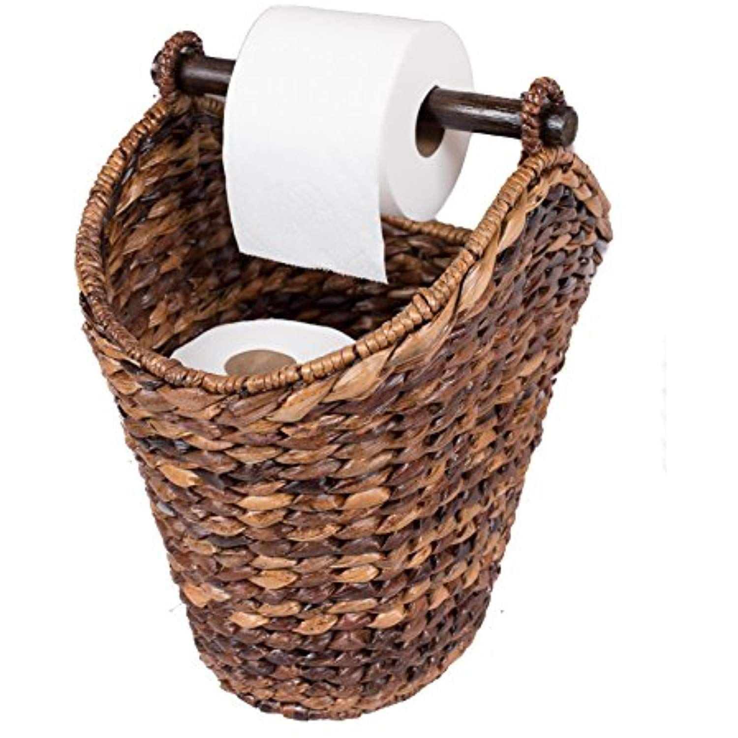 Birdrock Home Free Standing Seagrass Toilet Paper Holder And Dispenser Check Out The Image By Visiting The Link T Toilet Paper Holder Toilet Toilet Paper