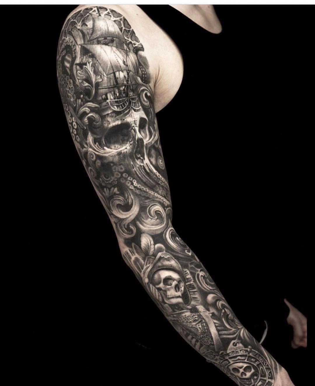 Cardi B Tattoos Arm: Full Sleeve Tattoo Concepts #Fullsleevetattoos
