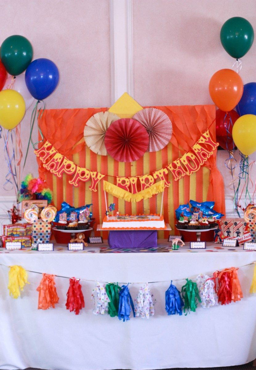 Madagascar 3 Circus Themed Kids Party