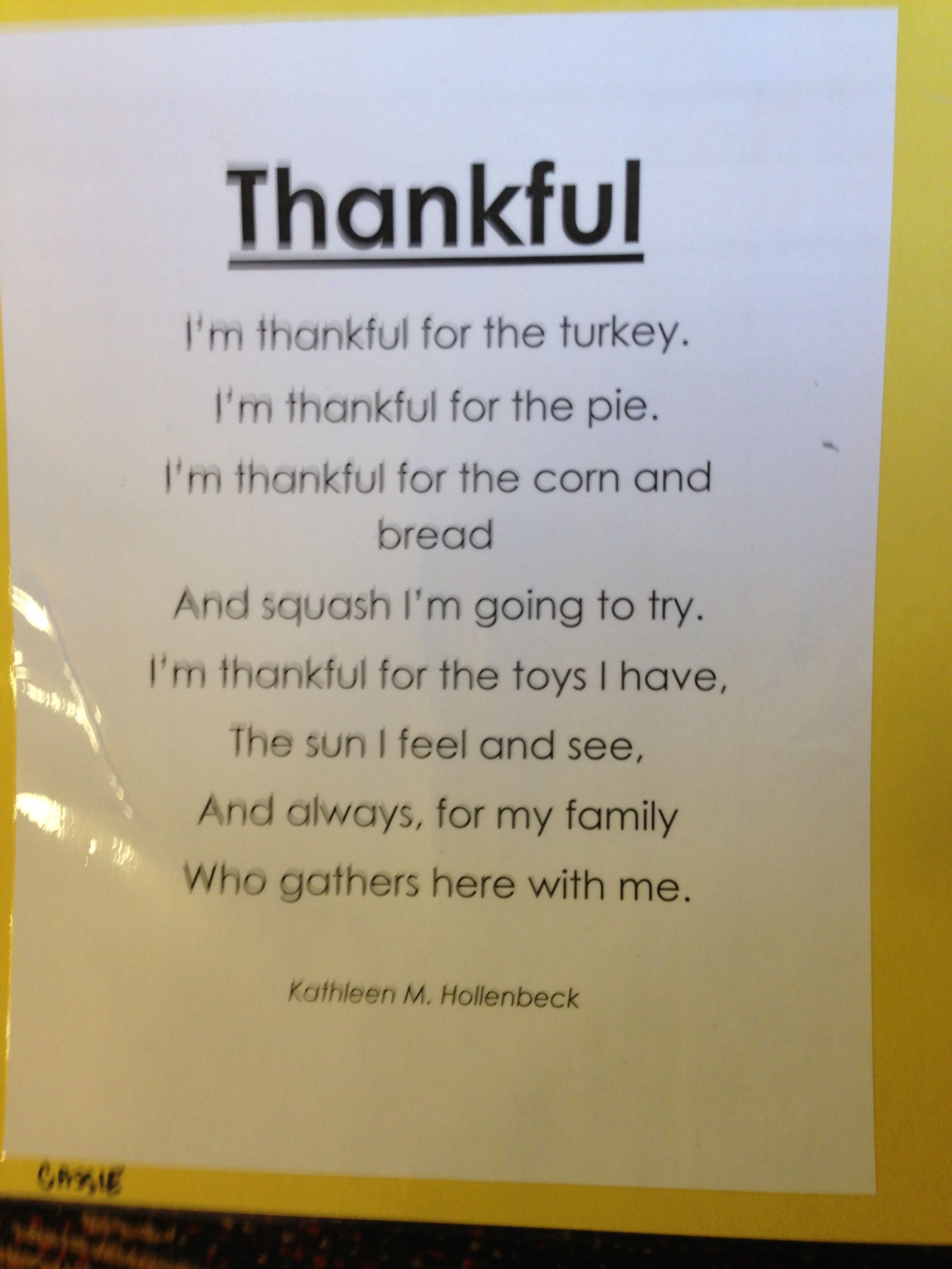 Thankful Poems 3