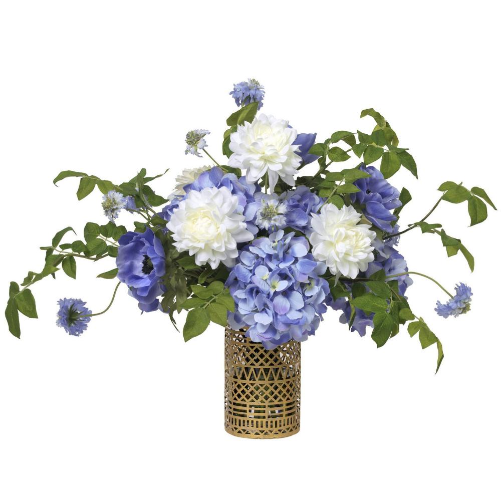 Blue Hydrangea & Dahlia Bouquet