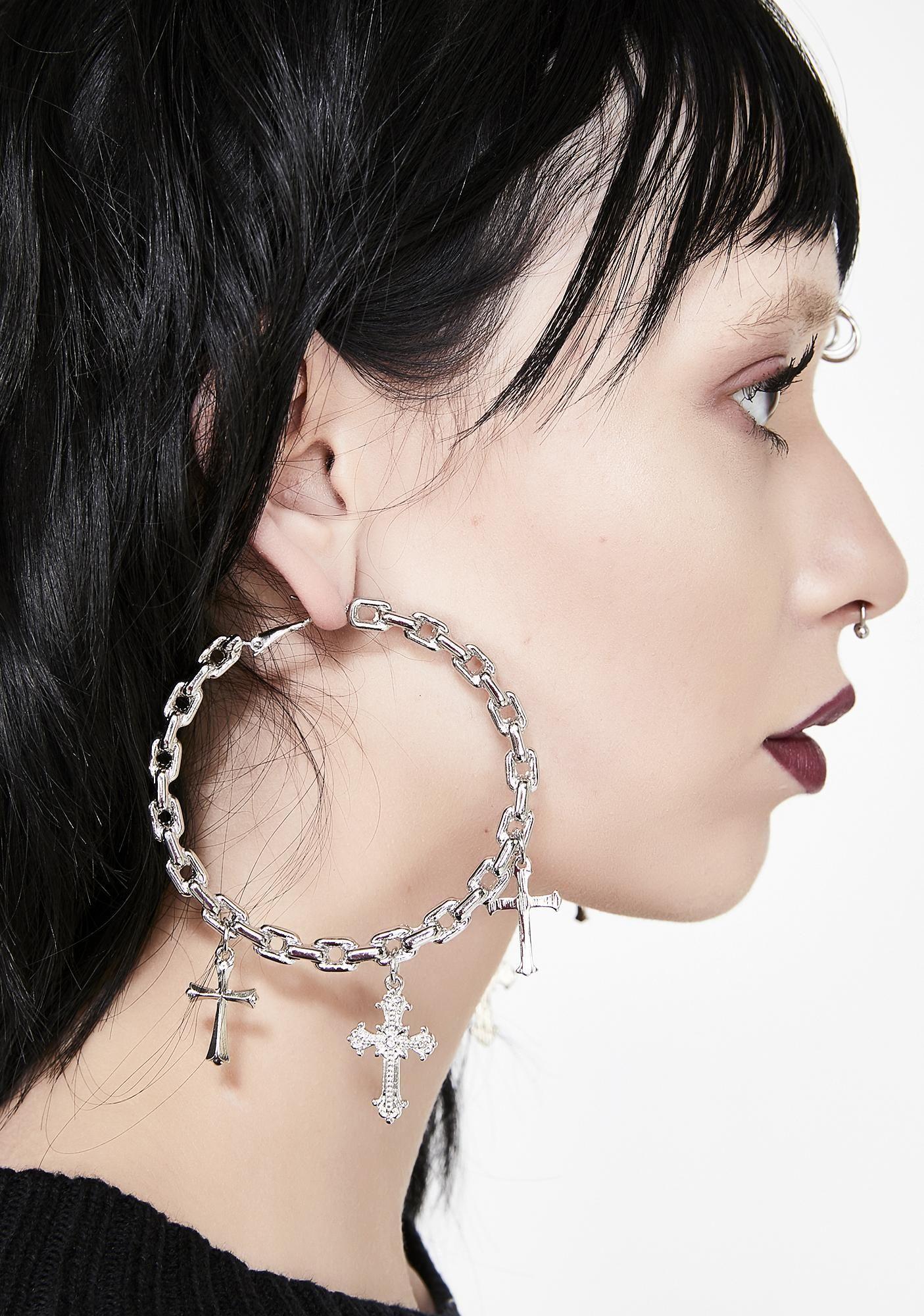 Unholy Vow Hoop Earrings