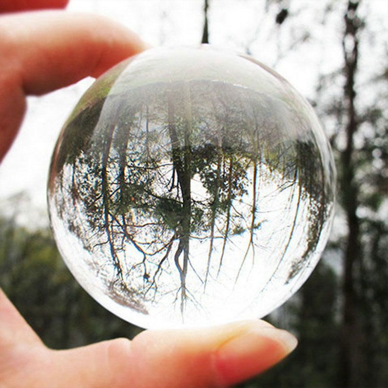 Cheap Decorative Balls Fashion Transparent Solid Glass Crystal Ball Healing Ball Gifts