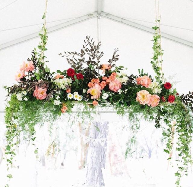 Ladder Wedding Altar: Image Result For Hanging Flower Installation Wedding Altar