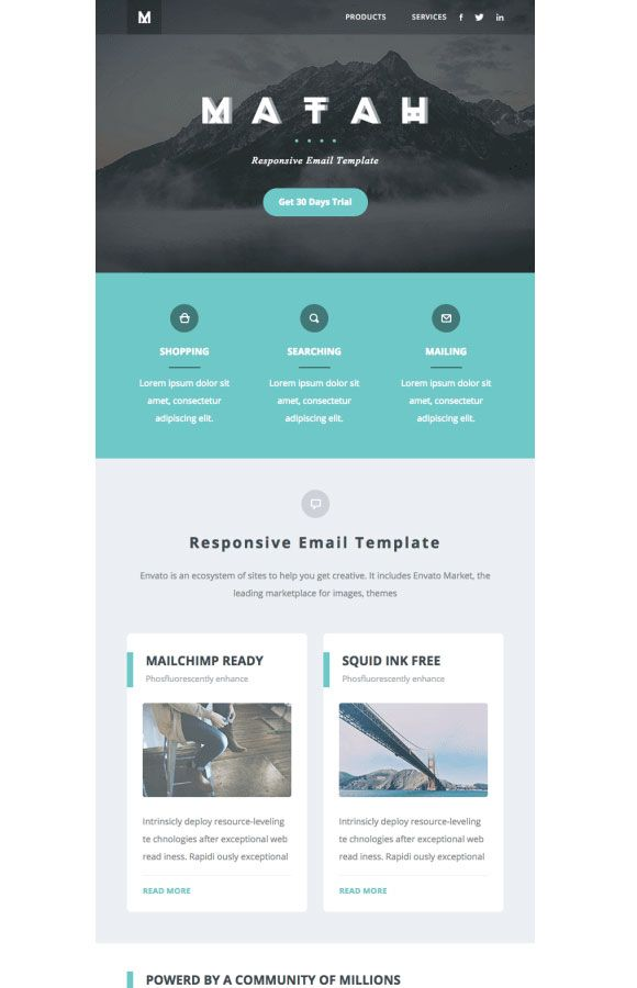 email newsletter examples matah responsive email email design - Newsletter Design Ideas