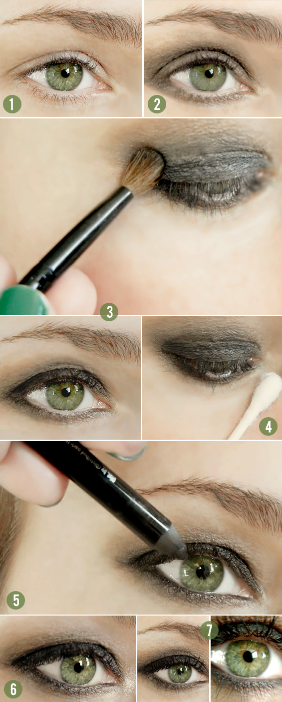 Tutorial On Bubbyandbean.com >> Smokey Eyes In 5 Minutes