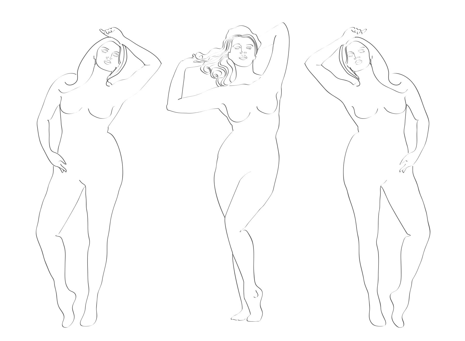 full figure croquis | Full figure | Fashion Croquis of All Sizes ...