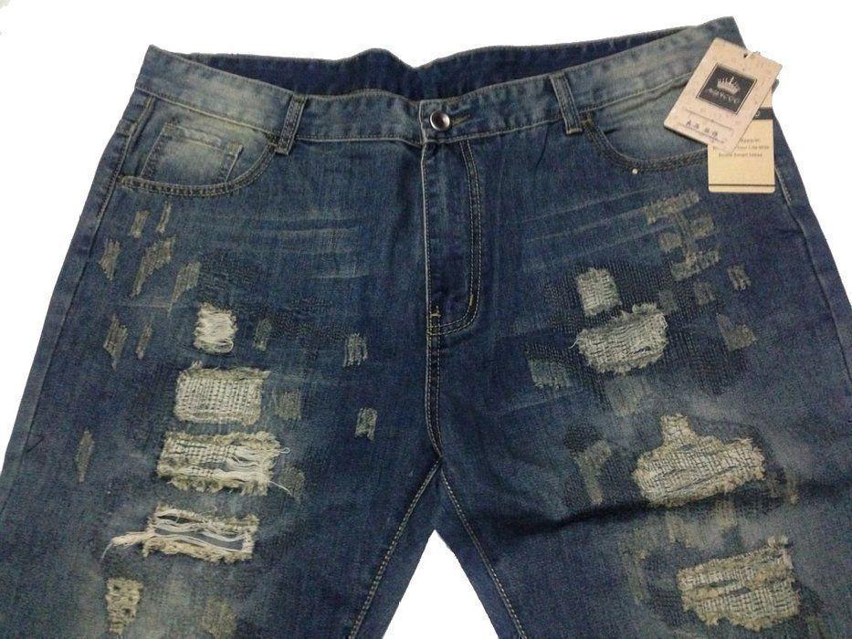 Myncoo Men's Blue Slim Ripped Jeans for men Denim Ripped