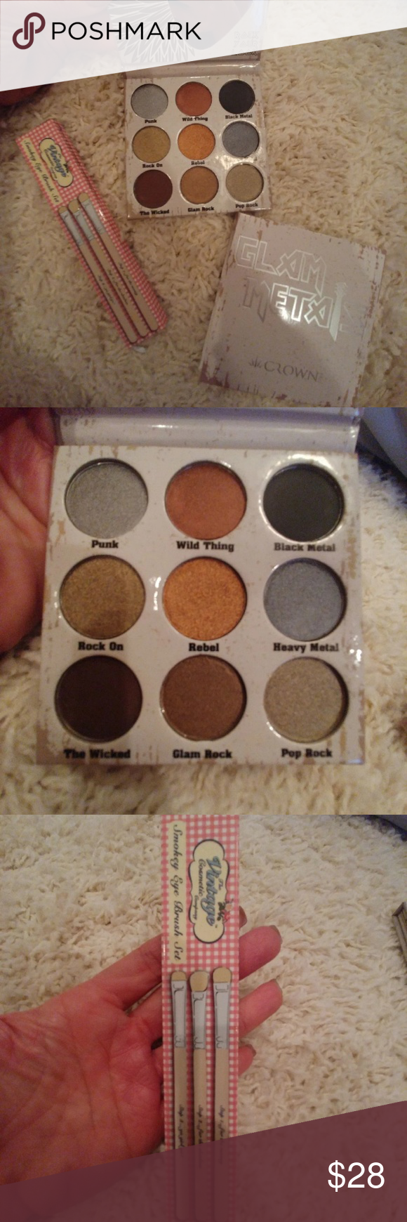 Crown Pro Glam Metals Palette and brush set Listening