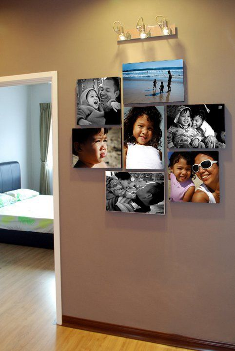Canvas clusters new layouts canvases and photo wall for Canvas print arrangement ideas