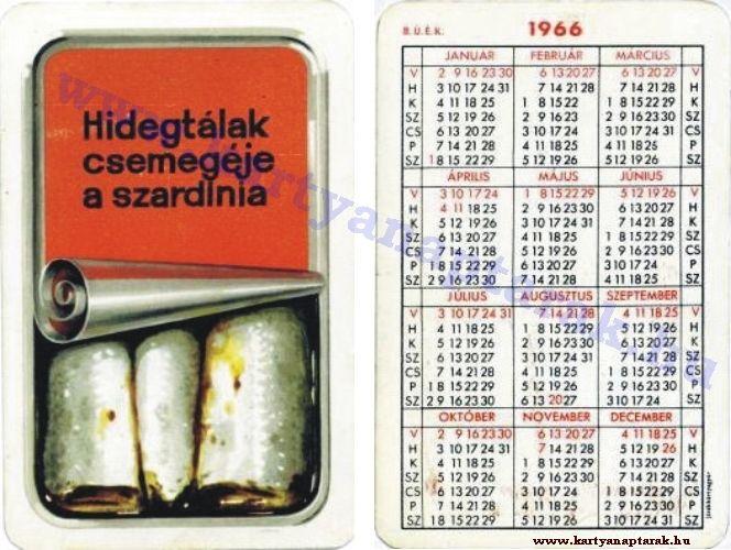 1966 - 1966_0056 - Régi magyar kártyanaptárak