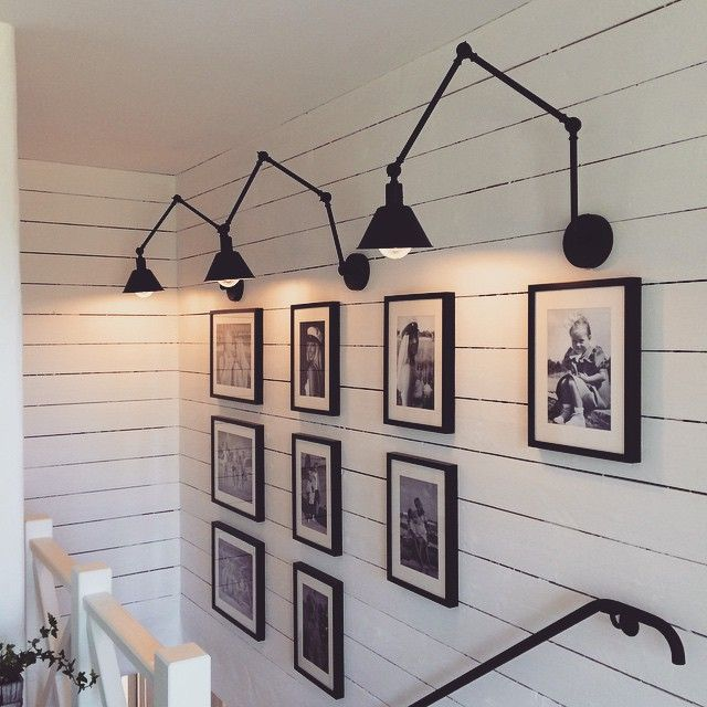 Gallery Wall Above Staircase. Amazing With Those Sconces.