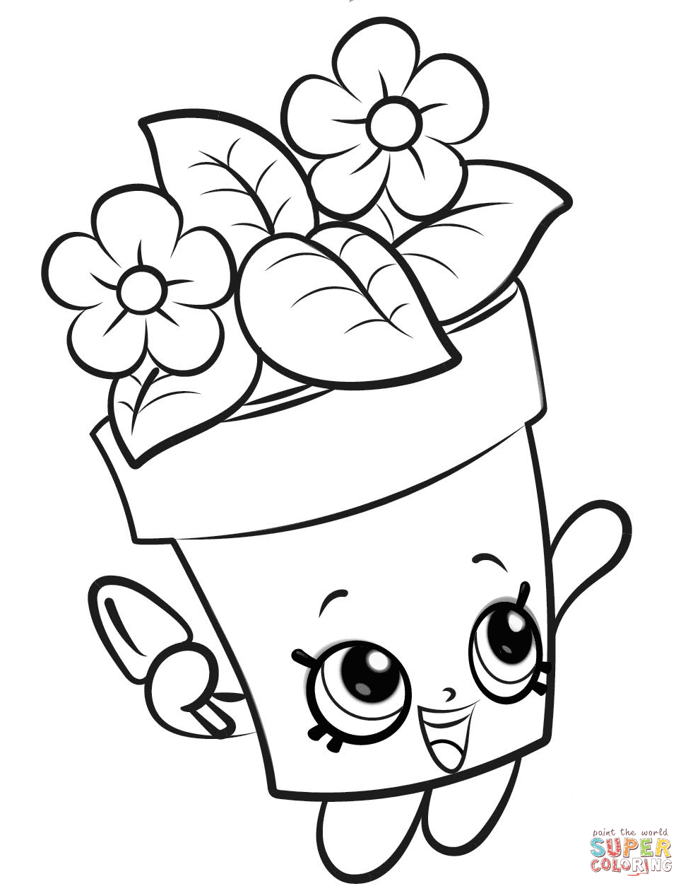 Peta Plant Shopkin Coloring Page Free Printable Coloring Pages Shopkin Coloring Pages Shopkins Colouring Pages Spring Coloring Pages