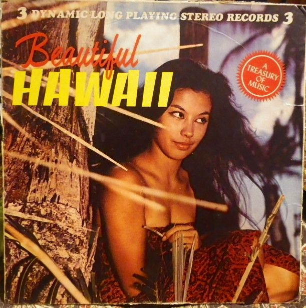 -New York, N.Y., Premier Albums K-31, Three 33 1/3 rpm stereo vinyl discs,  no date. Budget label Hawaiian record box sex.