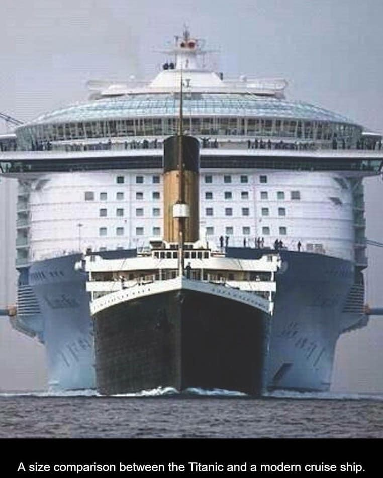 Cien años de evolución. #oasis #titanic @royalcaribbean