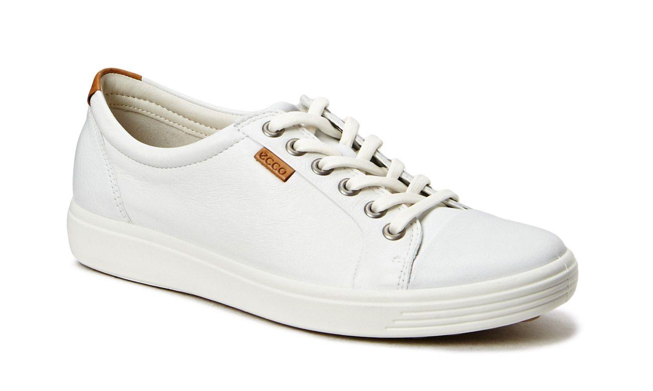 Ecco Soft 7 Ladies White Sneaker White Sneakers Shoes