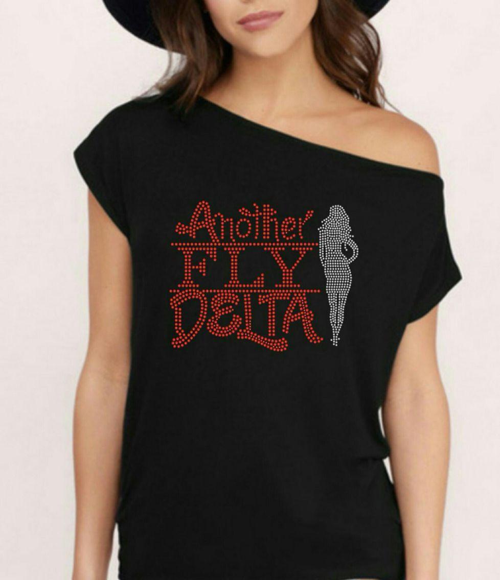 Delta Sigma Theta Diva inspired off the shoulder top
