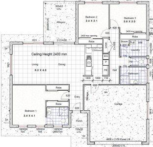 3 Bedroom House Plan Three Bedroom House Plan Bedroom House Plans Garage House Plans