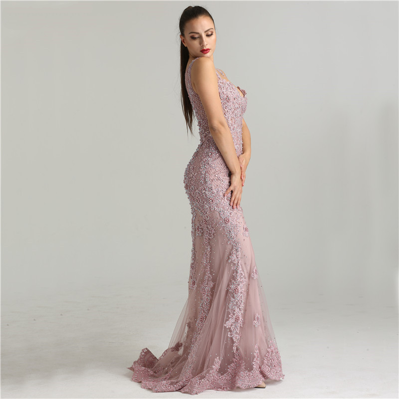 Women\'s lace mermaid formal evening dress | Lace mermaid, Formal and ...