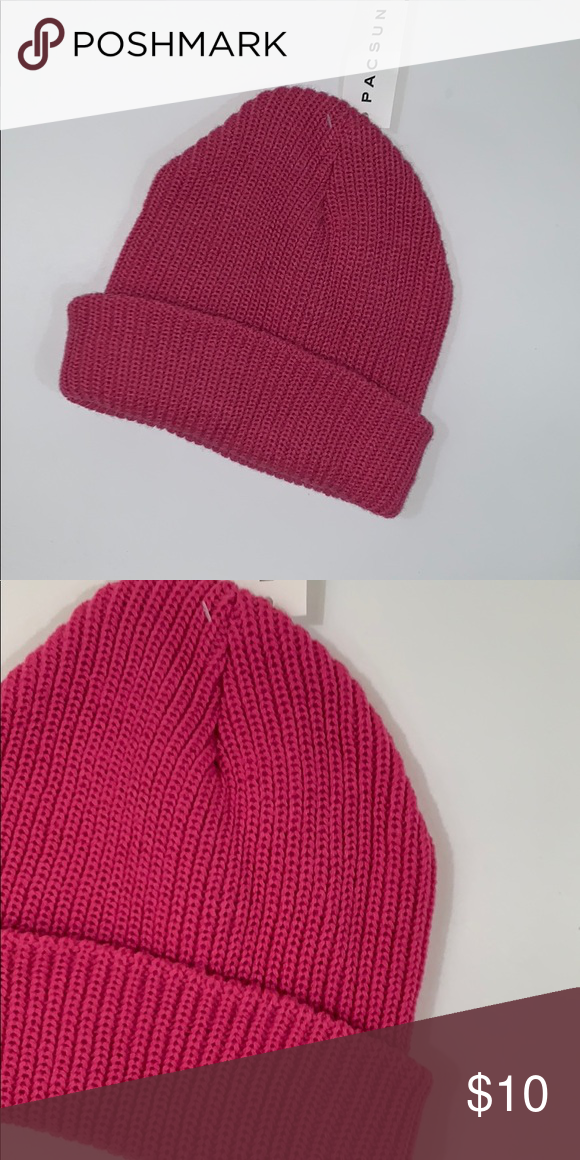 959f61c3 Dark pink beanie winter hat Brand new with tags La Hearts Accessories Hats