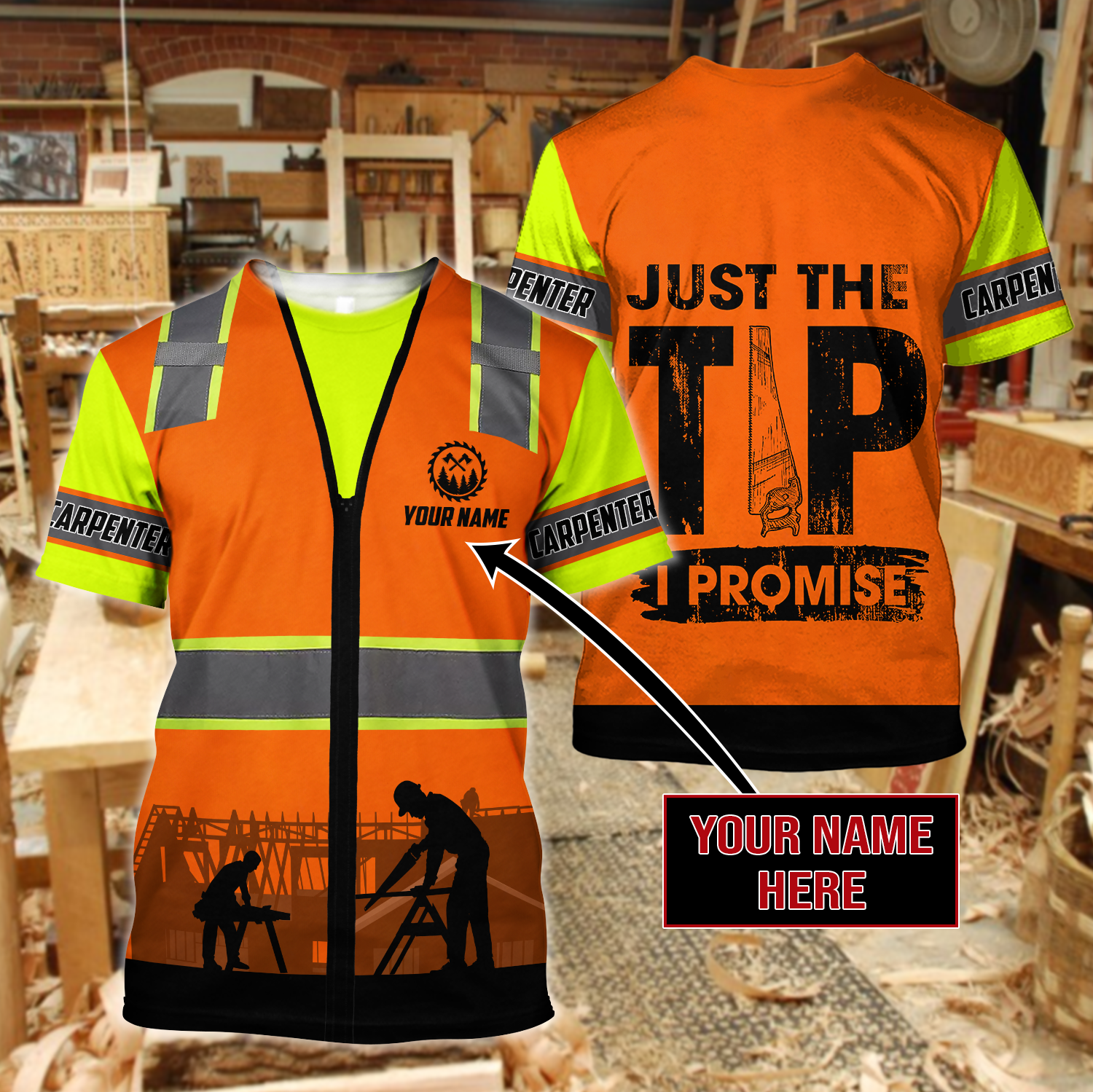 Personalized Carpenter 3D All Over Printed Unisex Shirts For Men And Women - T-Shirts / 3XL