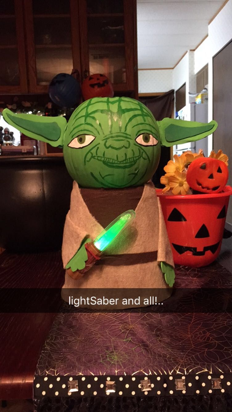 Yoda Pumpkin! Happy Halloween! Happy halloween