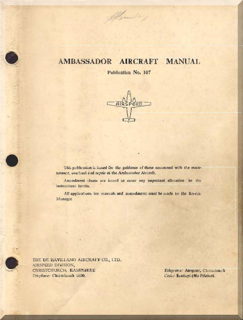 Airspeed ambassador aircraft flight manual aircraft aircraft malvernweather Image collections