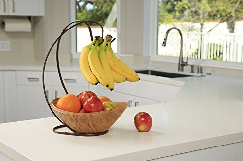 Seville Classics Bamboo Fruit Bowl With Banana Hook 2 Pack In 2020