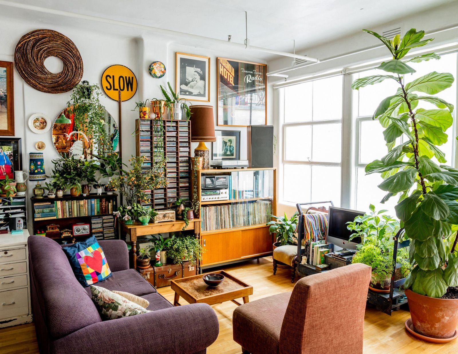 Gaylene's Maximalist Indoor Garden | Simple bedroom decor