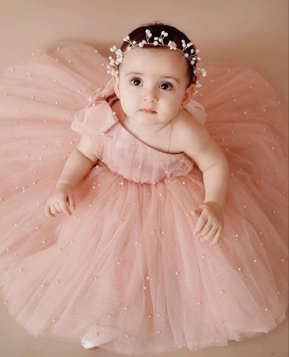 Princess Dress For Girls Powder Tulle Dress For Girls Etsy Baby Girl Birthday Dress Baby Gowns Girl Cute Little Baby Girl