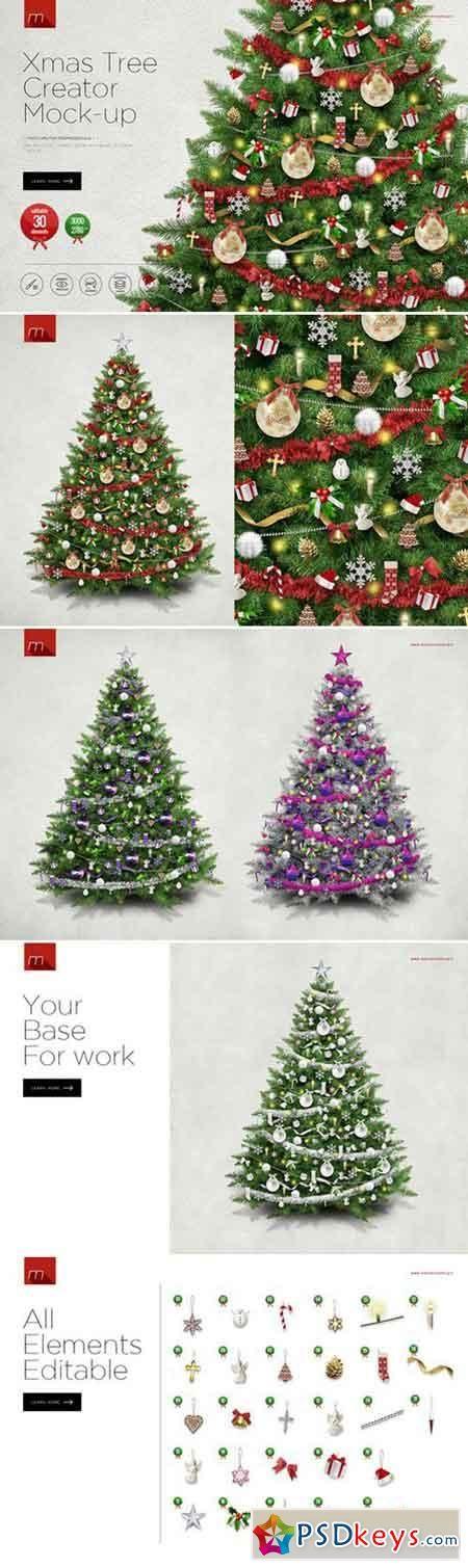 Christmas Tree Creator Mock Up 418080 Christmas Tree Tree Xmas Tree