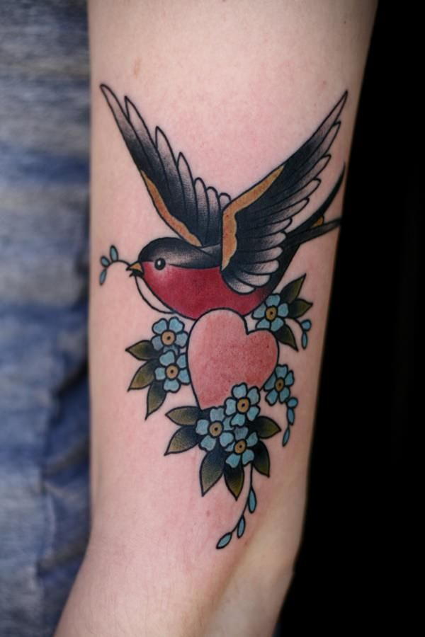 75 Sweet And Meaningful Swallow Tattoos Traditional Tattoo Bird Traditional Tattoo Swallow Tattoo