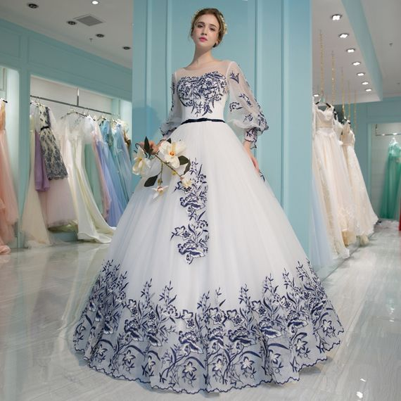 2017 spring and summer new dream lace flower bride wedding dress ...