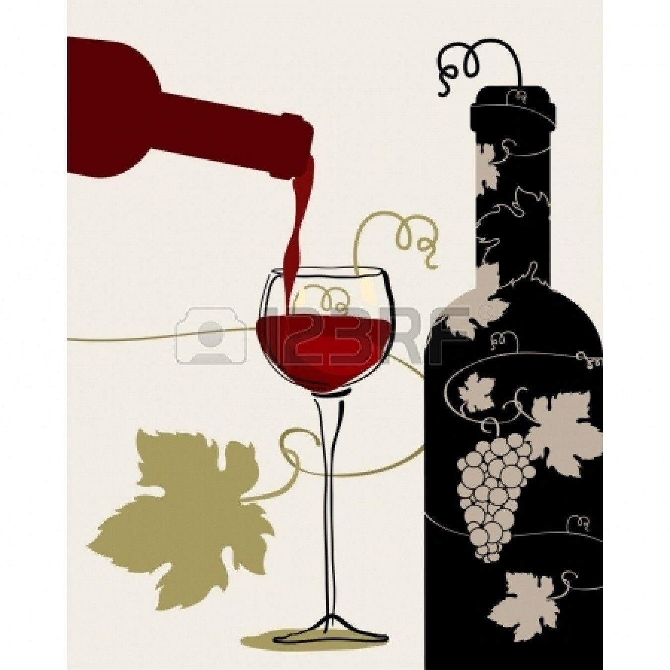 Bottle Wine Glass Grapes Wine Bottle Glass Wine Glass Wine Bottle