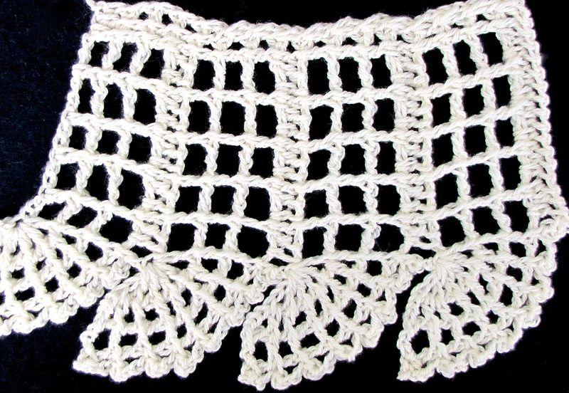 Antique Edging in Tunisian Filet Crochet   Pinterest   Puntos