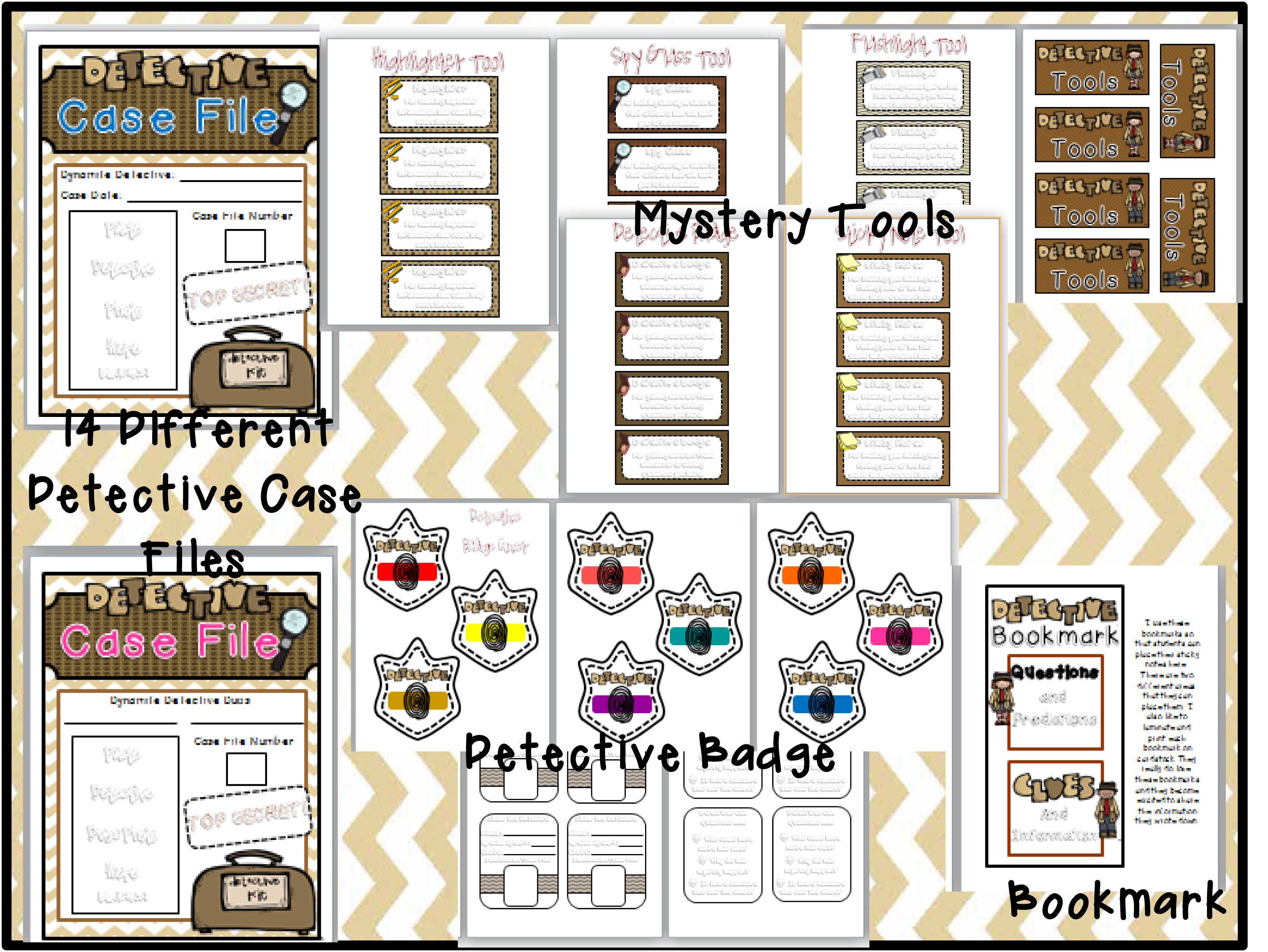 Mystery Unit Preview 6 Detective Files For Students To