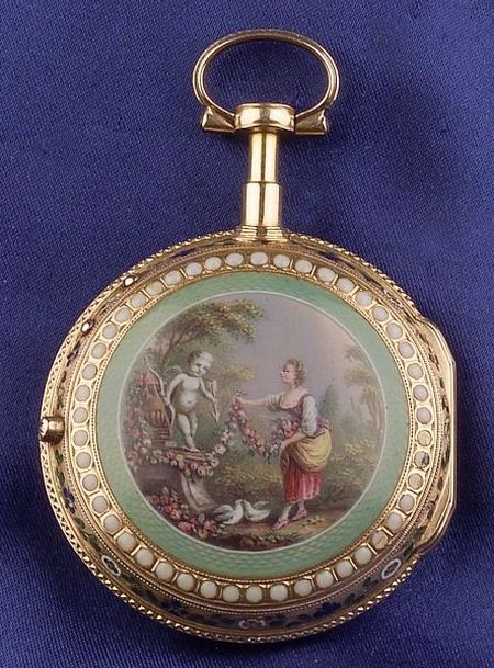 Antique Enamel Pocket Watch, Marchand, Paris | Sale Number 2311, Lot Number 426 | Skinner Auctioneers