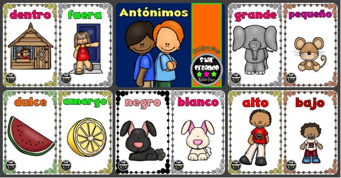 Opuestos Antonimos O Contrarios Tarjetas Para Trabajar En Clase I Antonimos Sinonimos Y Antonimos Imagenes Educativas